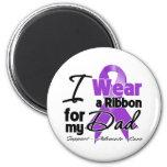 Dad - Pancreatic Cancer Ribbon Fridge Magnets