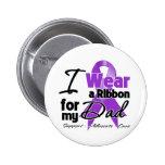 Dad - Pancreatic Cancer Ribbon Pinback Buttons