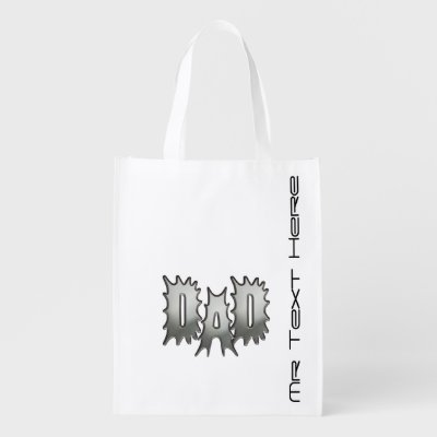 Dad Personalized Grocery Bag