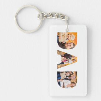 Dad Photo Collage Keychain