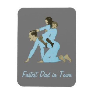 Dad Playing Children Horsie Vintage 1910s Cute Magnet