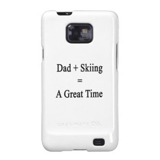 Dad Plus Skiing Equals A Great Time Samsung Galaxy SII Cases