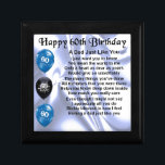 "Dad Poem  60th Birthday Keepsake Box<br><div class=""desc"">A great gift for a dad on his 60th birthday</div>"