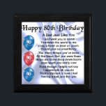 "Dad Poem  80th Birthday Gift Box<br><div class=""desc"">A great gift for a dad on their 80th birthday</div>"