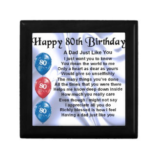 Dad Poem  80th Birthday Gift Box