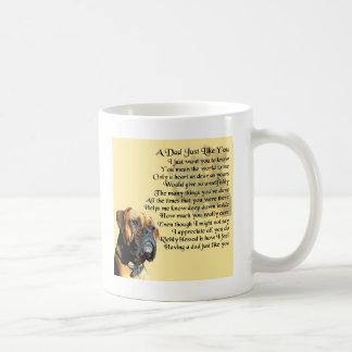 Dad Poem - Boxer Dog Design Coffee Mug
