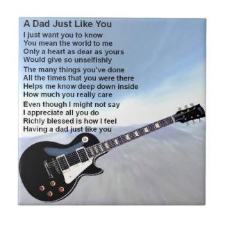 Dad Poem - Guitar Design Tile