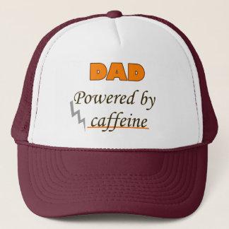 Dad Powered by caffeine Trucker Hat