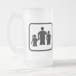 Dad Pro Frosted Glass Beer Mug