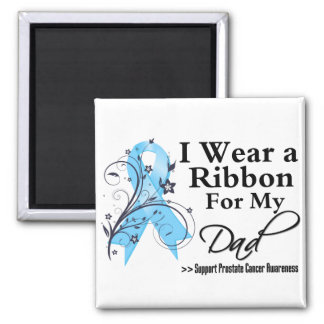 Dad Prostate Cancer Ribbon 2 Inch Square Magnet