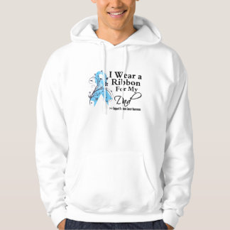 Dad Prostate Cancer Ribbon Hooded Pullovers