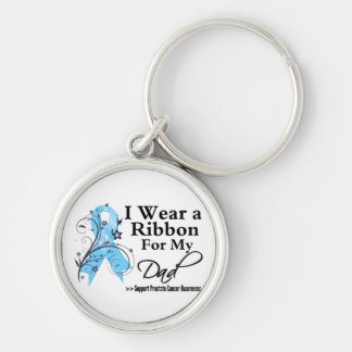 Dad Prostate Cancer Ribbon Keychain