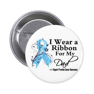 Dad Prostate Cancer Ribbon Pinback Button