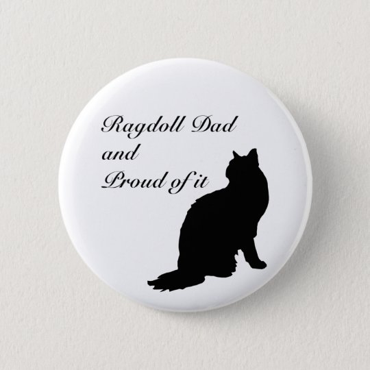 Dad Ragdoll Silhouette Series Pinback Button