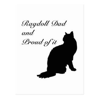 Dad Ragdoll Silhouette Series Postcards
