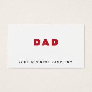 Dad [Red Distressed Text] Business Card