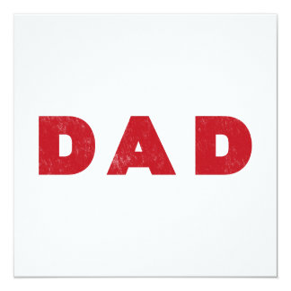 Dad [Red Distressed Text] Card