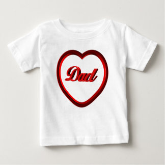 Dad Red Heart Frame Baby T-Shirt