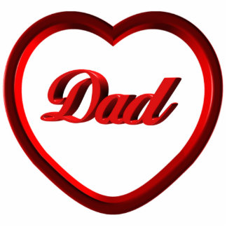 Dad Red Heart Frame Statuette