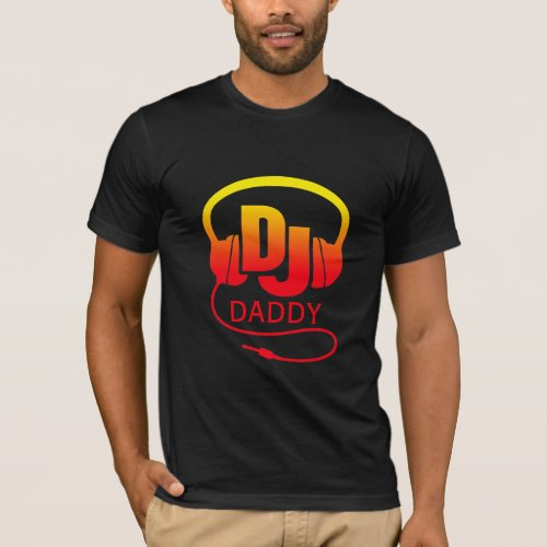 Dad red yellow DJ headphones T-Shirt