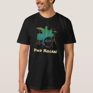 Dad Rocks! ~ Drummer Dad Tee