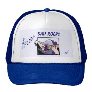 """""""Dad Rocks"""" Guitar Player Trucker Hat"""