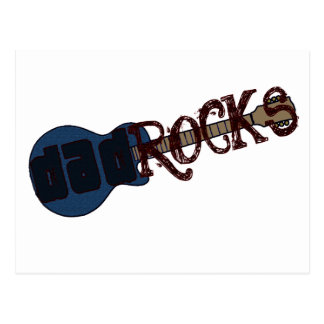 Dad Rocks Postcard