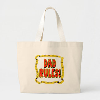 Dad Rules Gifts For Him Jumbo Tote Bag