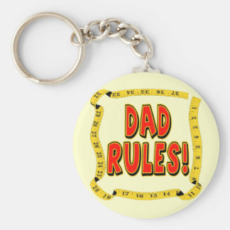 Dad Rules Gifts For Him Keychain
