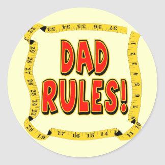 Dad Rules Gifts For Him Sticker