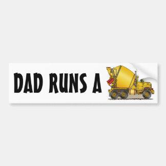 Dad Runs A Concrete Truck Bumper Sticker