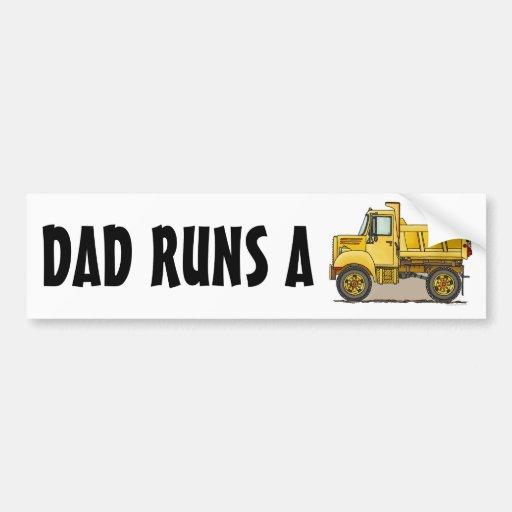 Dad Runs A Little Dump Truck Bumper Sticker