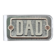 DAD Rustic metal plate money clip