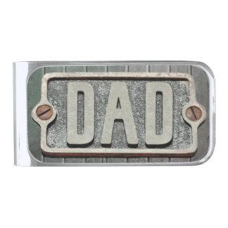 DAD Rustic metal plate money clip