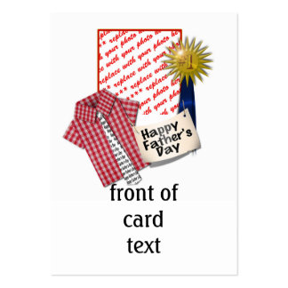 Dad s Favorite Shirt with 1 Ribbon Frame Business Card Template