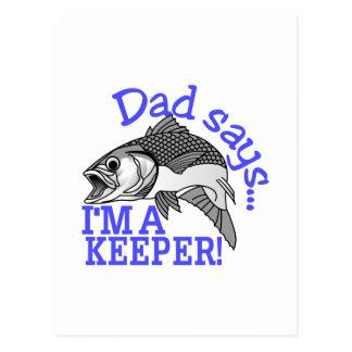 Dad Says Postcard