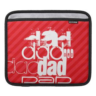 Dad; Scarlet Red Stripes iPad Sleeve