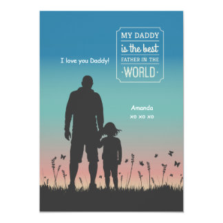 Dad Silhouette Greeting Card