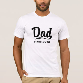Dad since year customized t-shirt Father's day