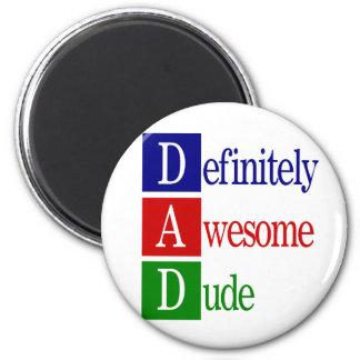 Dad spells...magnet 2 inch round magnet