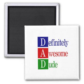 Dad spells...magnet 2 inch square magnet