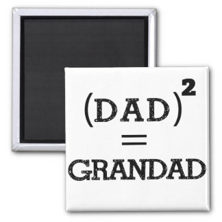 Dad square 2 inch square magnet