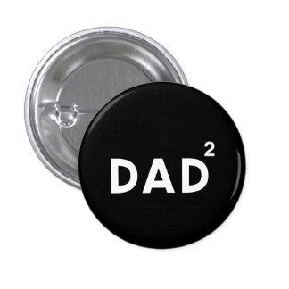 Dad Squared Pinback Button