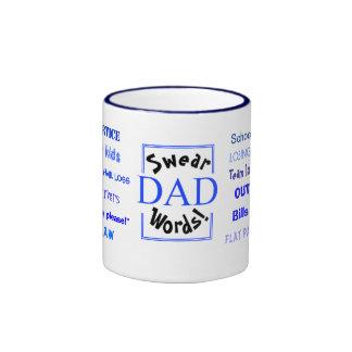 Dad Swear Words!  Teasing Joke Ringer Mug