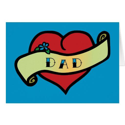 Dad Tattoo Heart Card