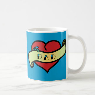 Dad Tattoo Heart Coffee Mug