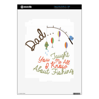Dad Taught Me Fishing Decal For iPad 2