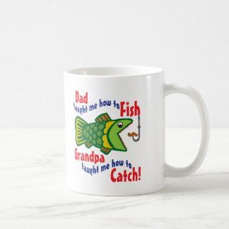 Dad Taught me How to Fish Coffee Mug