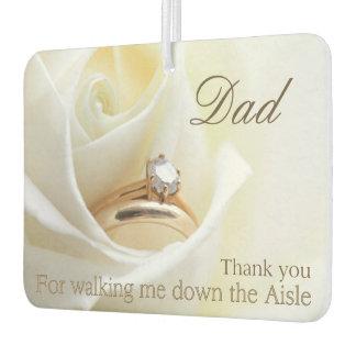 Dad Thanks for Walking me down Aisle Air Freshener