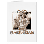 Dad the Barbarian Greeting Card